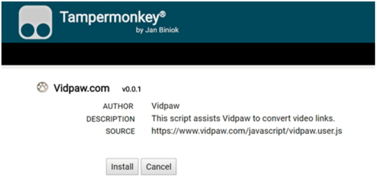 Install VidPaw Extension