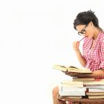 Girl Writing an Assignment