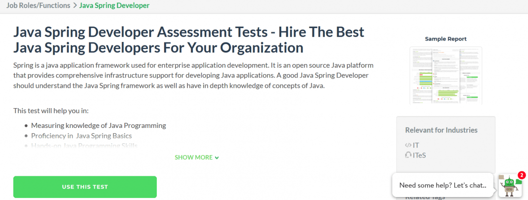 Java Spring Developer Assessment Tests