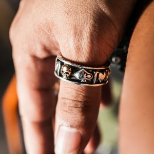 Sterling silver skull rings