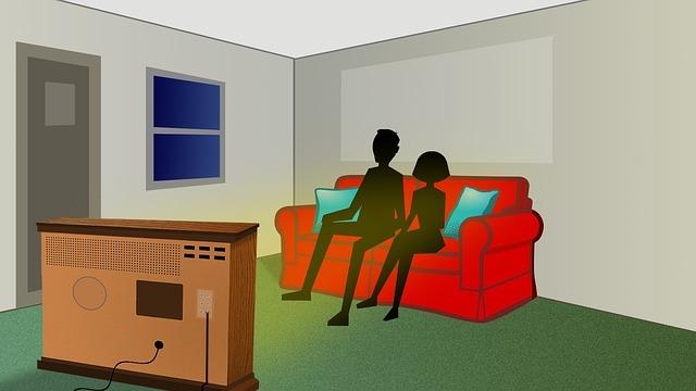 living room, tv, retro