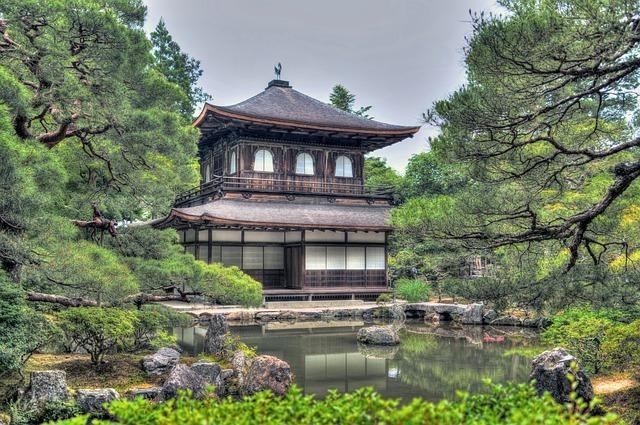 ginkaku-ji temple, gardens, kyoto