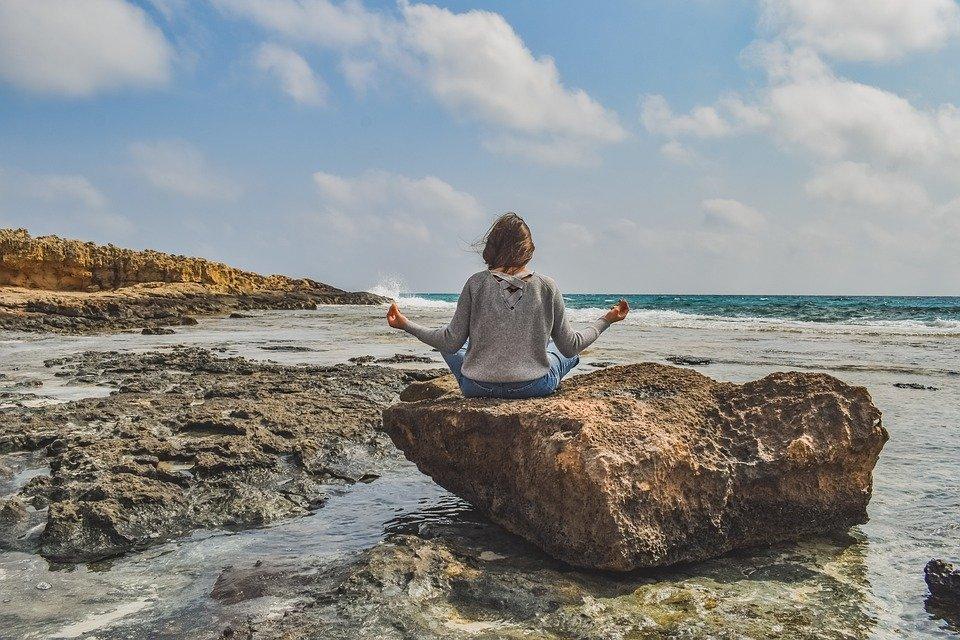 Niña, Meditación, Naturaleza, Yoga, Relajación, Mujer
